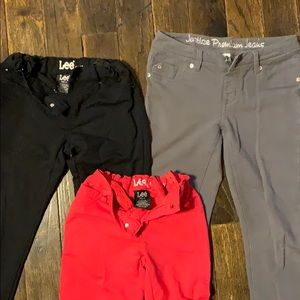 Lot of 3 girls very soft and stretchy pants